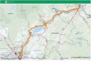 Saint-Laurent à vélo - Parcours Montréal - Québec (Chemin du Roy)